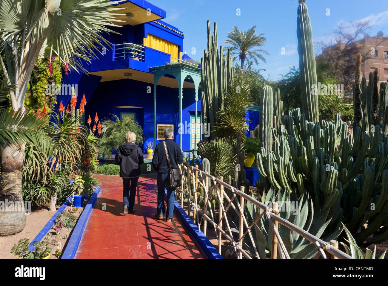 Jardin Majorelle Villa Art Deco Au Centre Du Jardin Majorelle