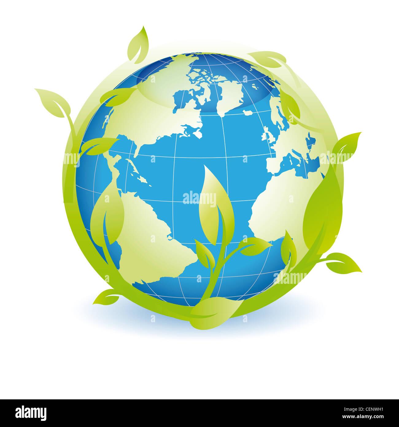 Green Globe vous pouvez utiliser le jour de la terre Photo Stock