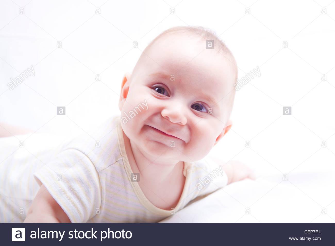 Cute Baby Boy Smiling Lays Photos Cute Baby Boy Smiling Lays