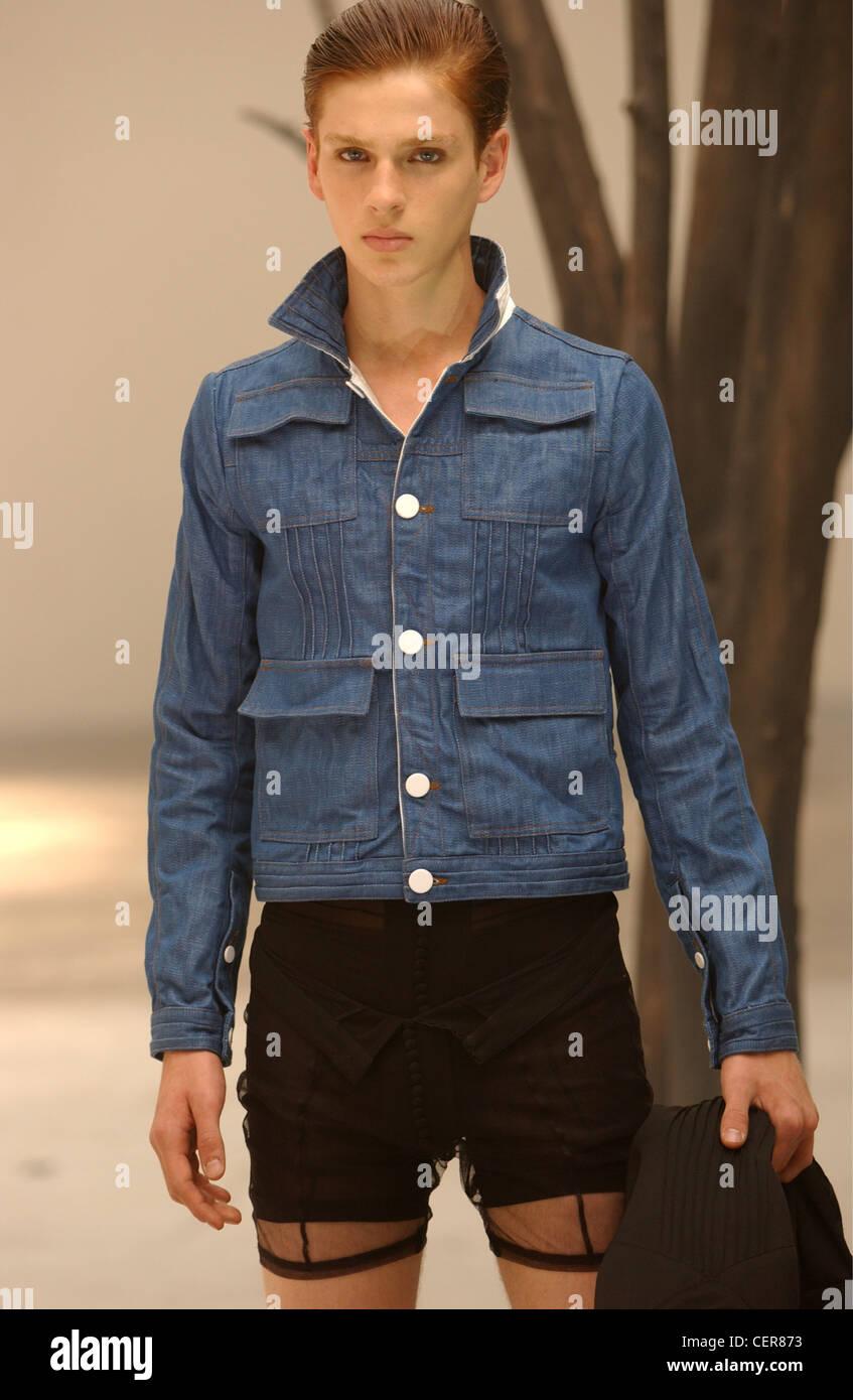 modèle veste en jean et dentelle