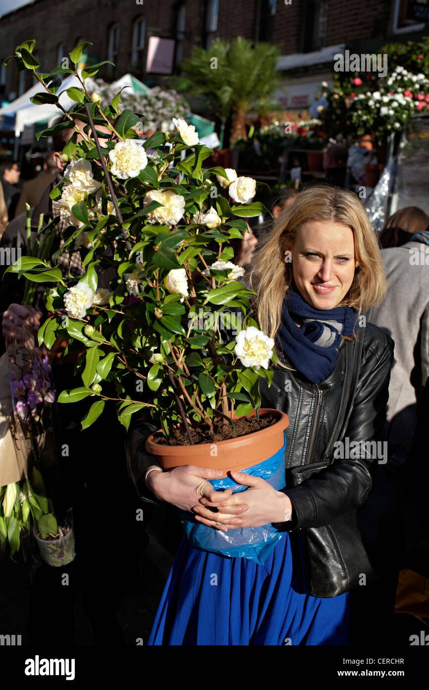 Columbia Road Flower Market East London Photo Stock