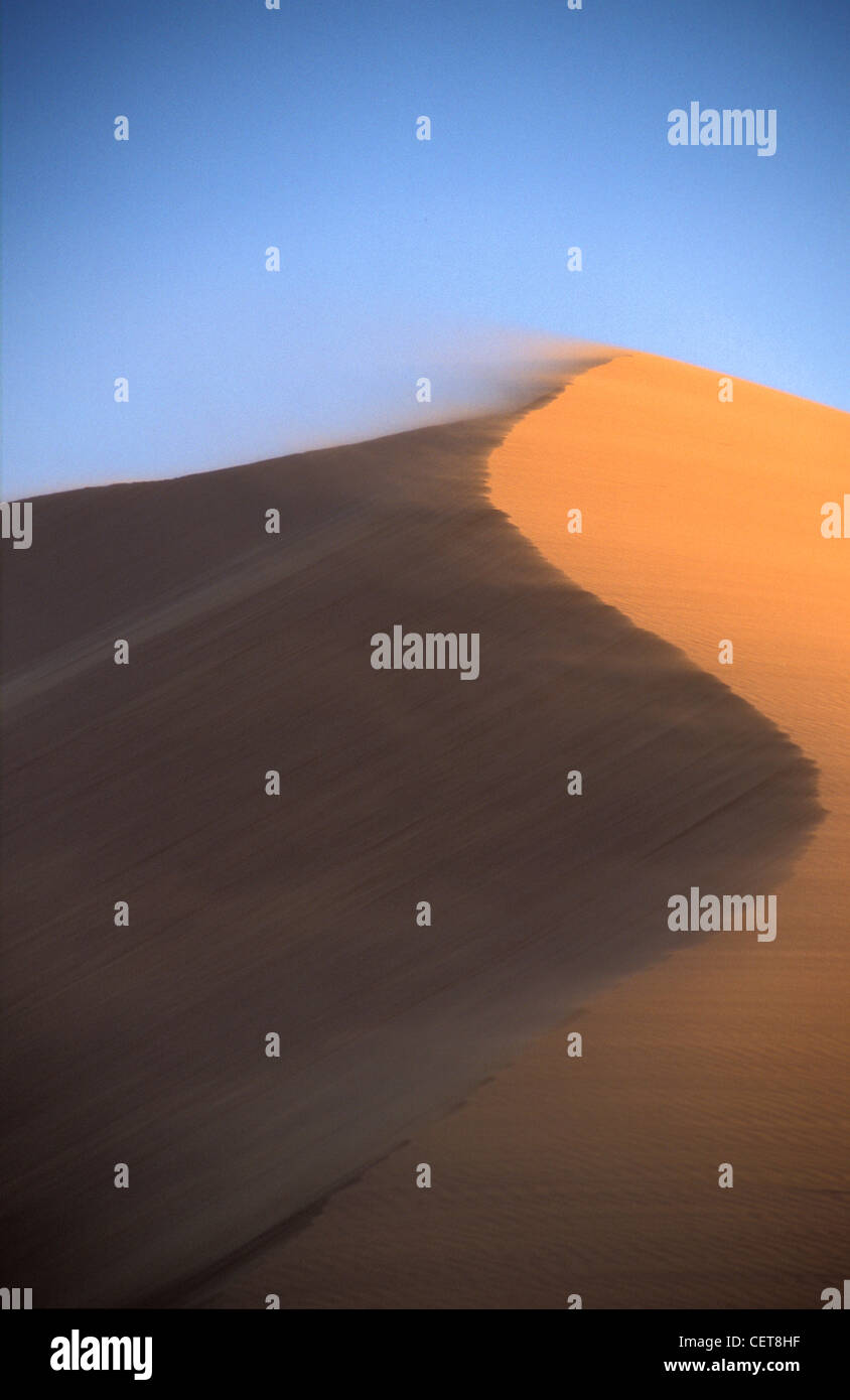 Dunes de sable dans le désert de Namib, le Parc National Namib Naukluft Sossusvlei, Namibie, Nr Photo Stock