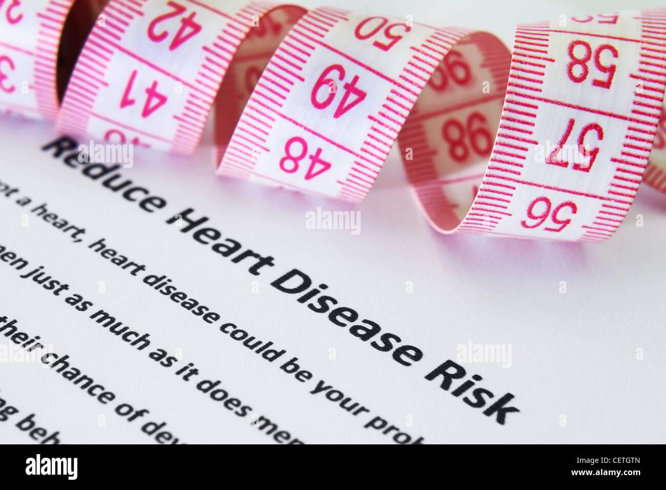 Le risque de maladie cardiaque Photo Stock