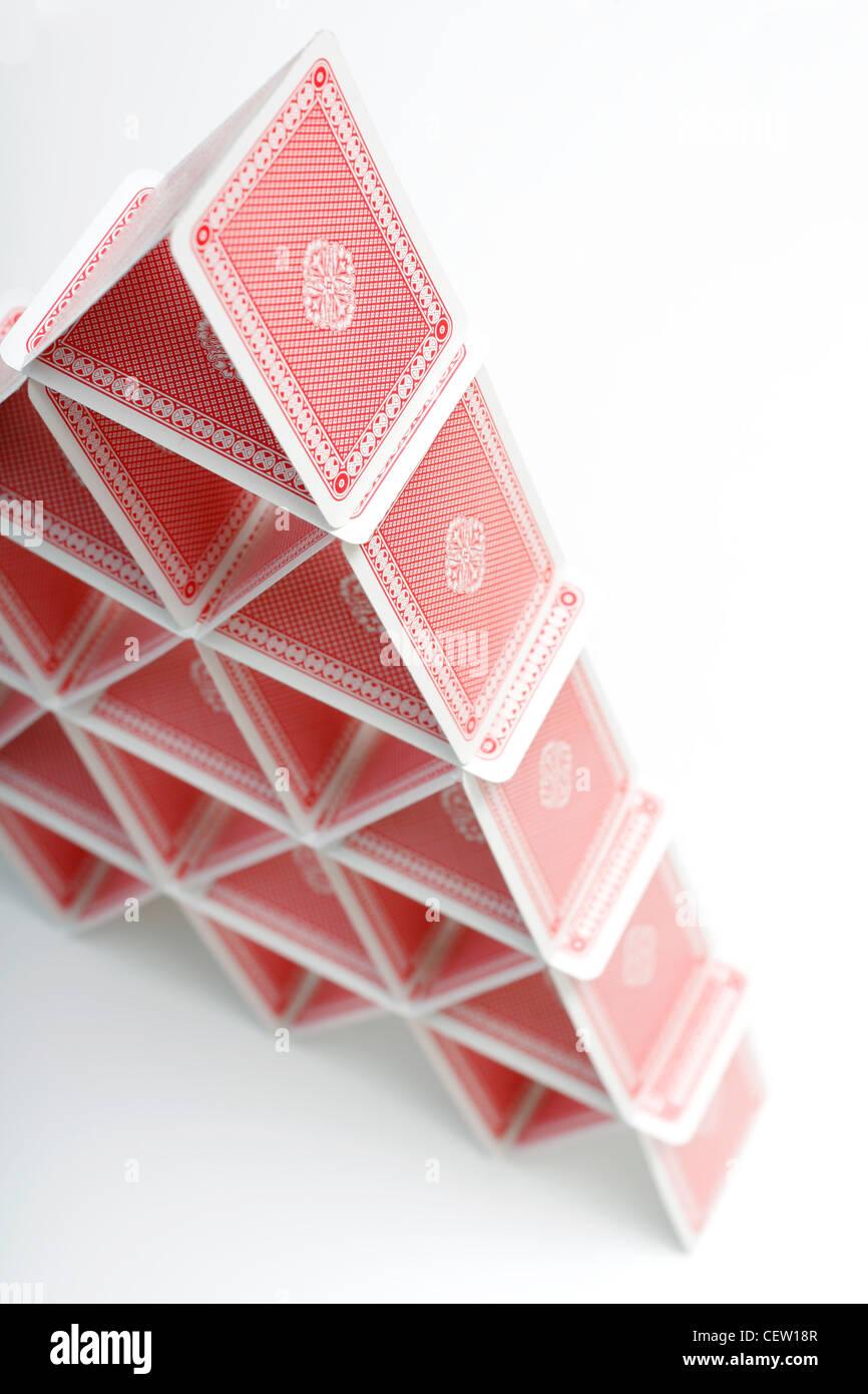 Une chambre des cartes à jouer Photo Stock