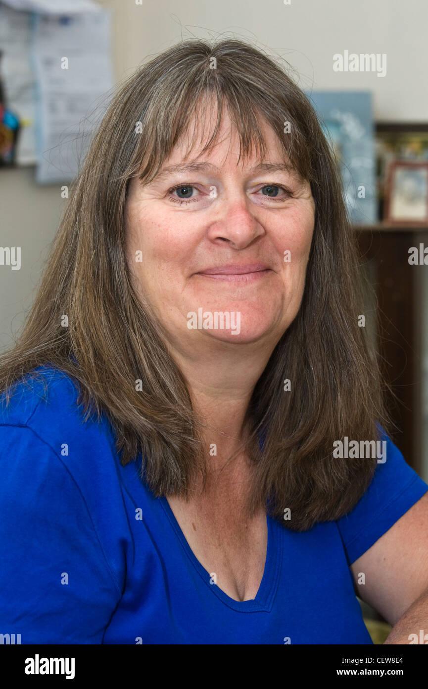 Sue le carême qui ont pris part à l'action des femmes pour la paix désarmement mars à Greenham Photo Stock