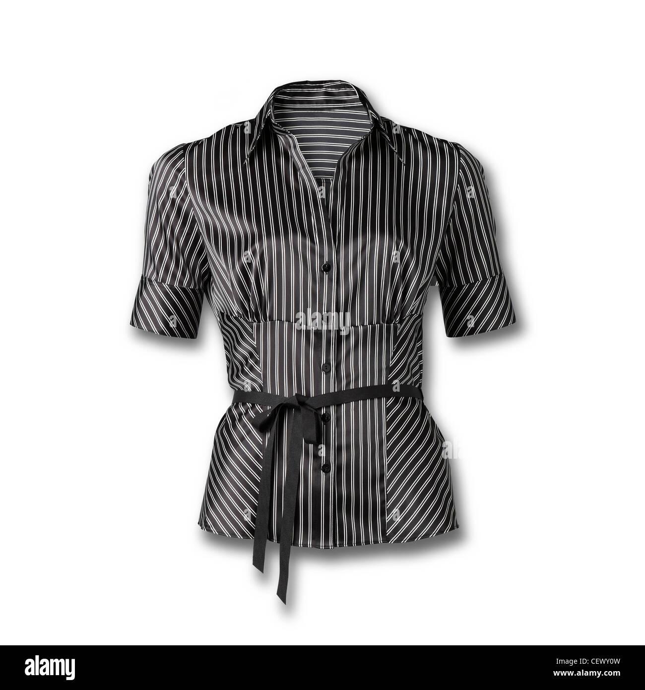 Encore un coup de la vie d'un chemisier femme manches courtes isolé sur fond blanc Photo Stock