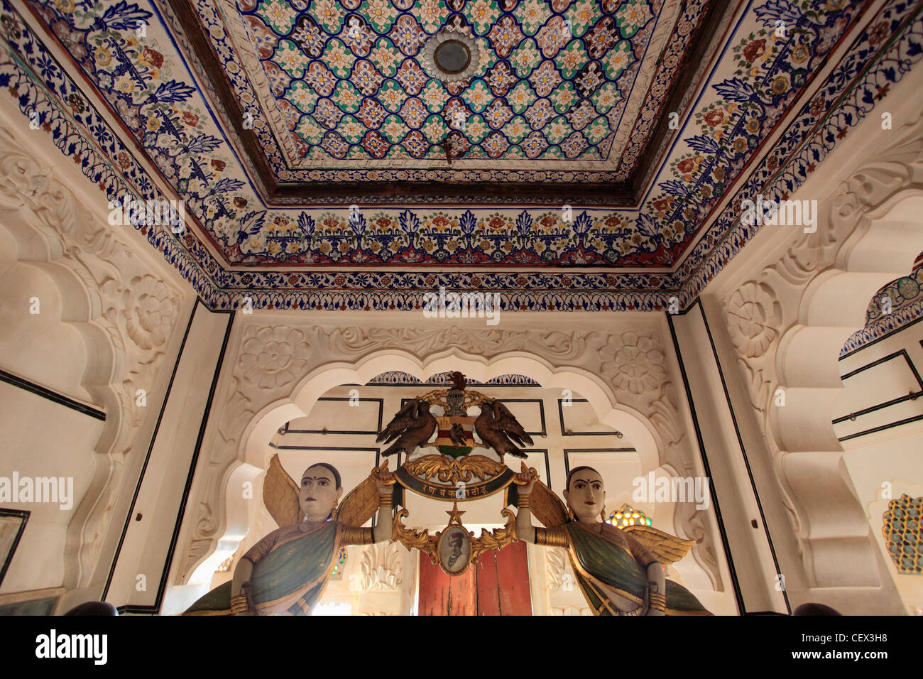 L'Inde, Rajasthan, Jodhpur, Fort Mehrangarh, berceau, Galerie Photo Stock