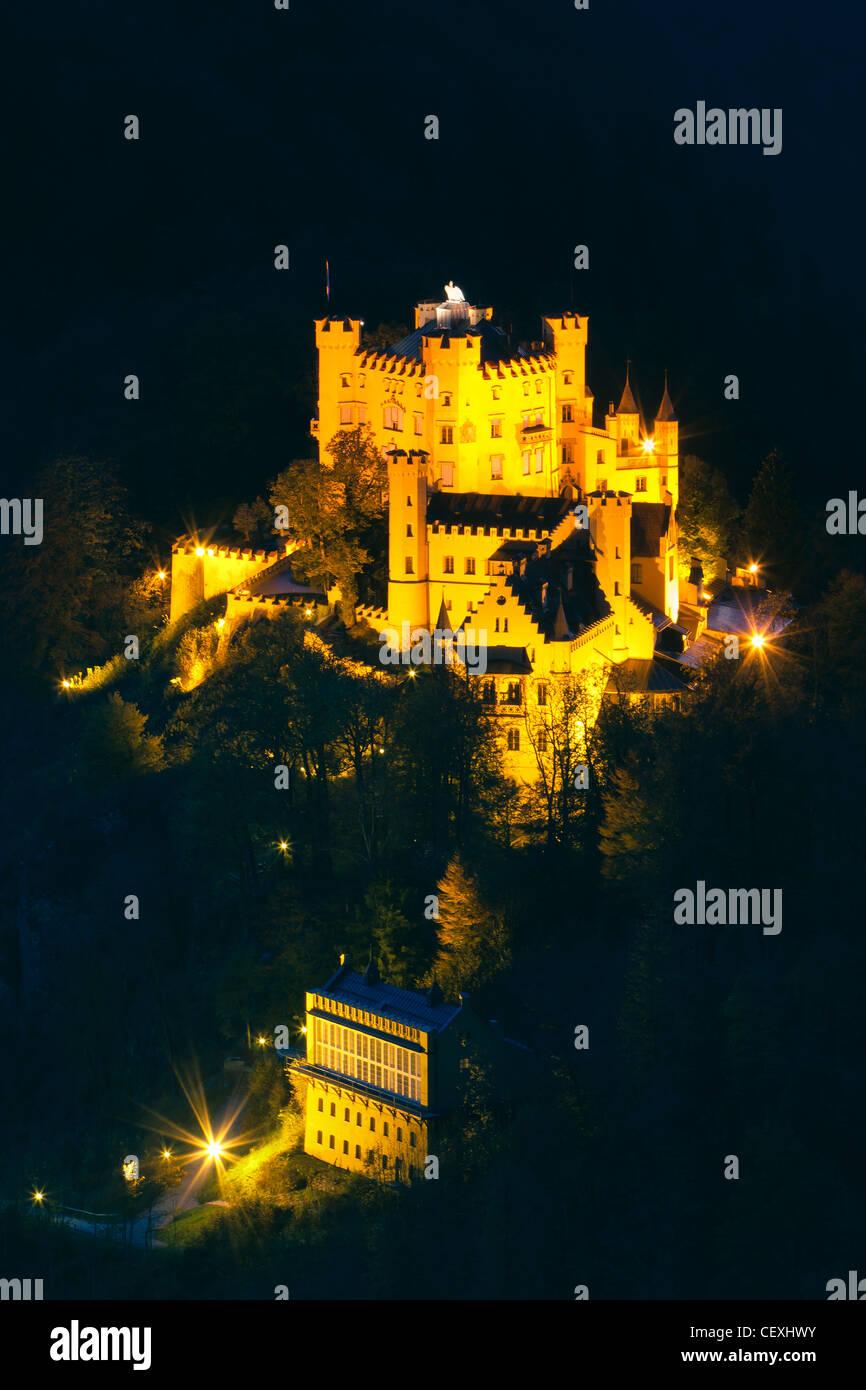 Château de Hohenschwangau, Allgau, Bavière, Allemagne Photo Stock