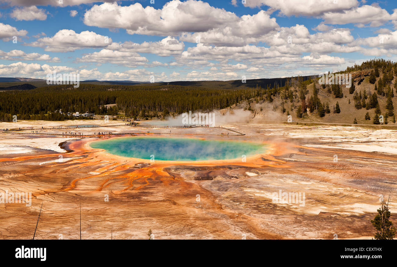 Grand Prismatic Spring Photo Stock