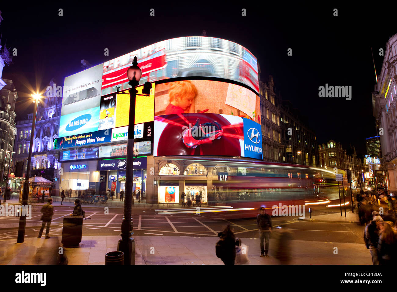 Piccadilly Circus, Londres Photo Stock