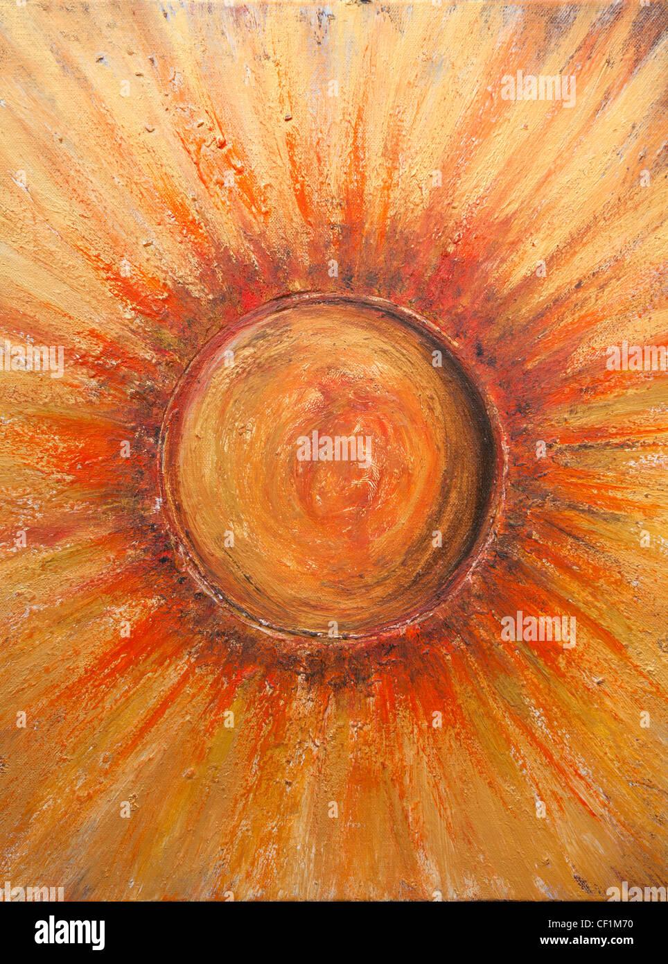 Peinture de Sun - par Betina Silva Banque D'Images