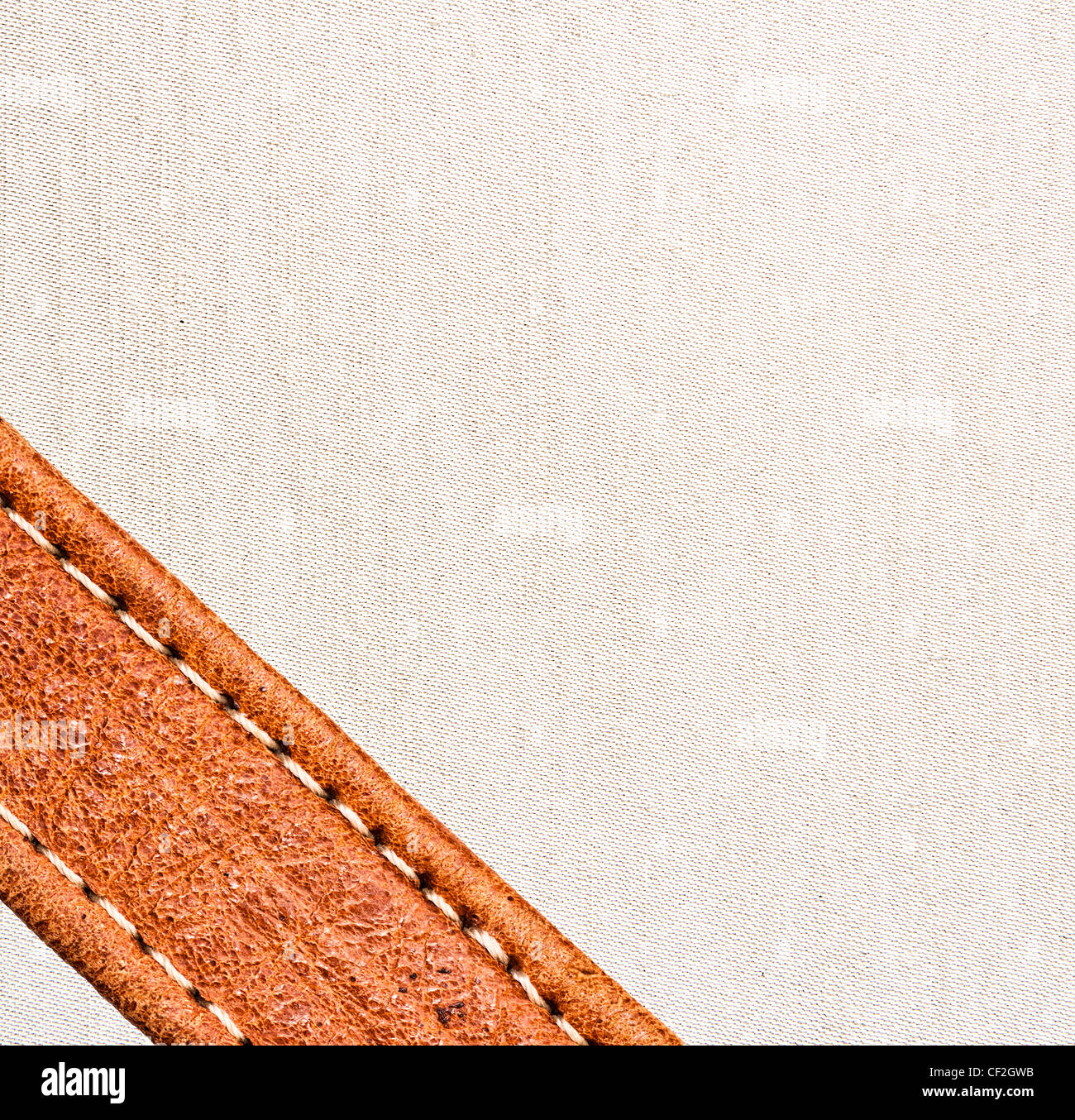 Image de fond en cuir et textile. Photo Stock
