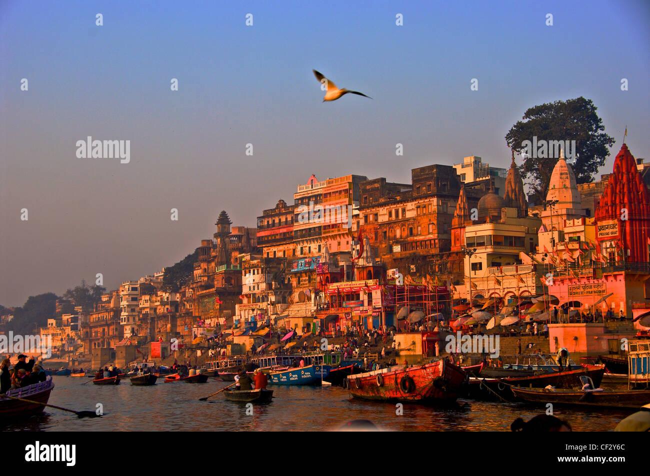 Vue de Ganges Varanasi Photo Stock