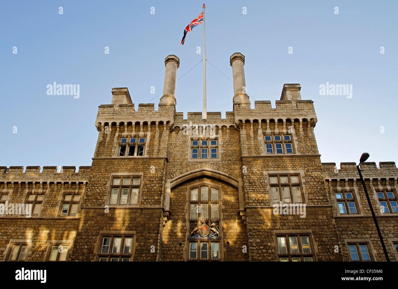 Armoury House, accueil à l'Honorable Artillery Company (HAC). Le bâtiment a été achevé Photo Stock