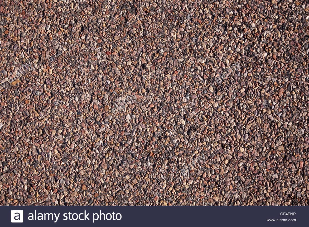 Le gravier fin dans l'asphalte de la route de l'Arizona Surface Texture Background Photo Stock