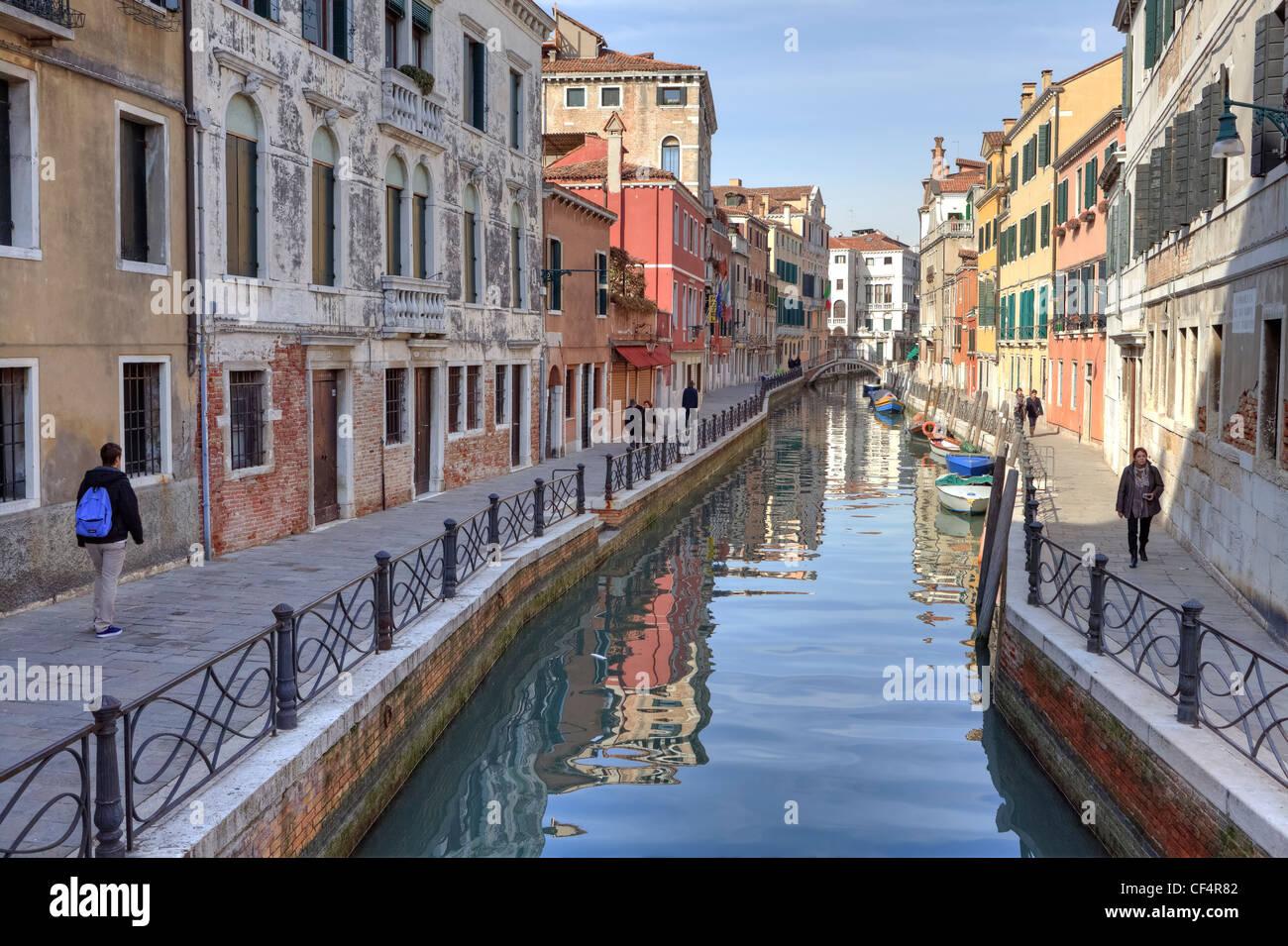 Fondamenta Rio Marin, San Polo, Venise, Vénétie, Italie Photo Stock
