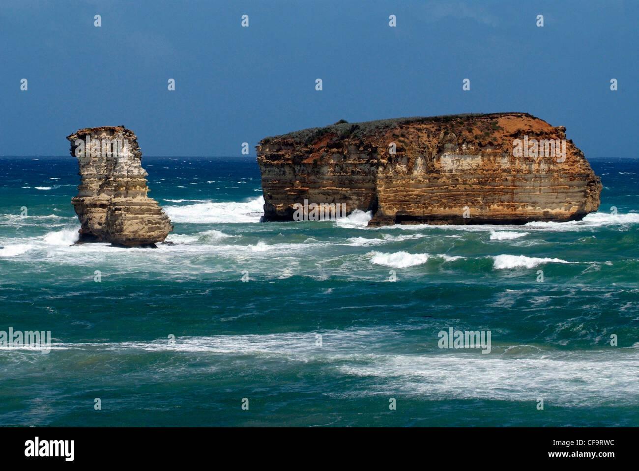 L'Australie, Victoria, Great Ocean Road, Port Campbell National Park, demeure de 'London Bridge' Photo Stock