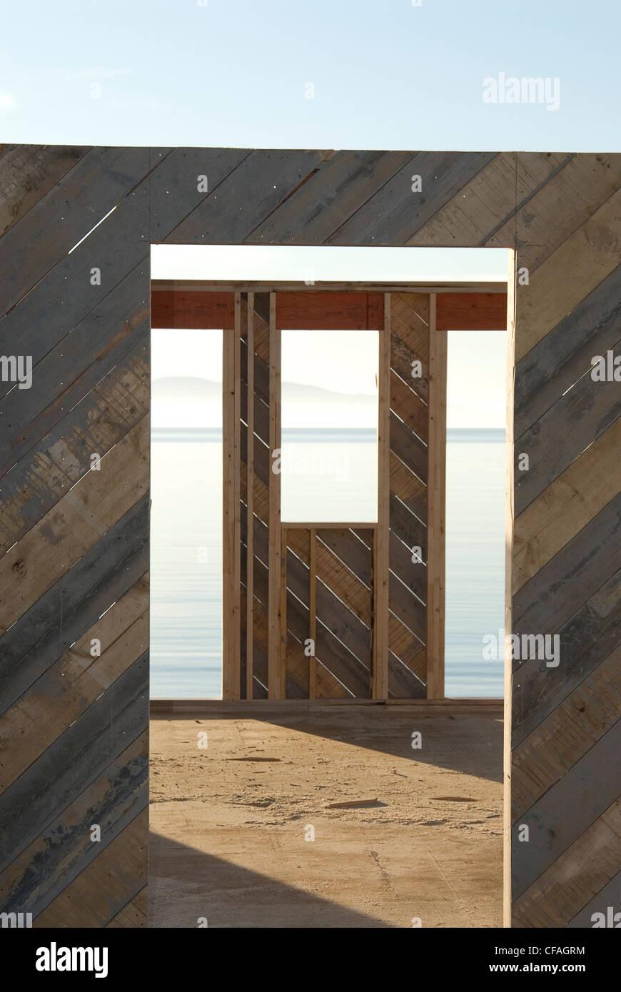 Avis de Haro directement à partir de la maison inachevée, Cordov Bay, Victoria, Colombie-Britannique, Photo Stock