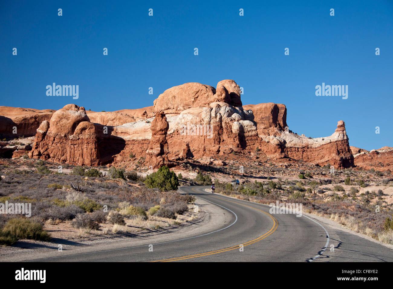 USA, United States, Amérique du Nord, l'Utah, Arches, Parc National, rock, des formations, des arcs de Photo Stock