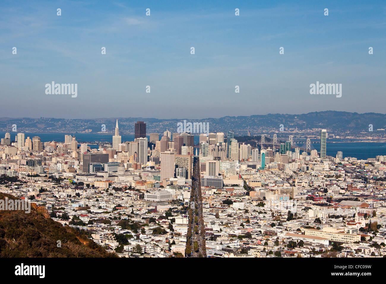 USA, United States, Amérique, Californie, San Francisco, Ville, Centre-ville, rue du marché, l'architecture, de Banque D'Images