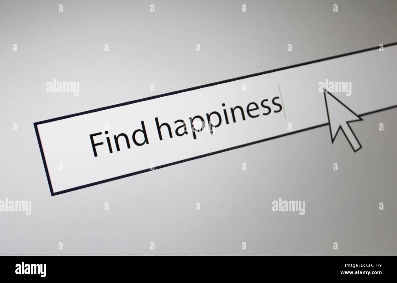 Trouver le bonheur Banque D'Images