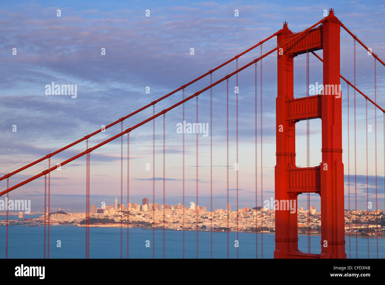 Le Golden Gate Bridge, le comté de Marin, San Francisco, California, USA Photo Stock