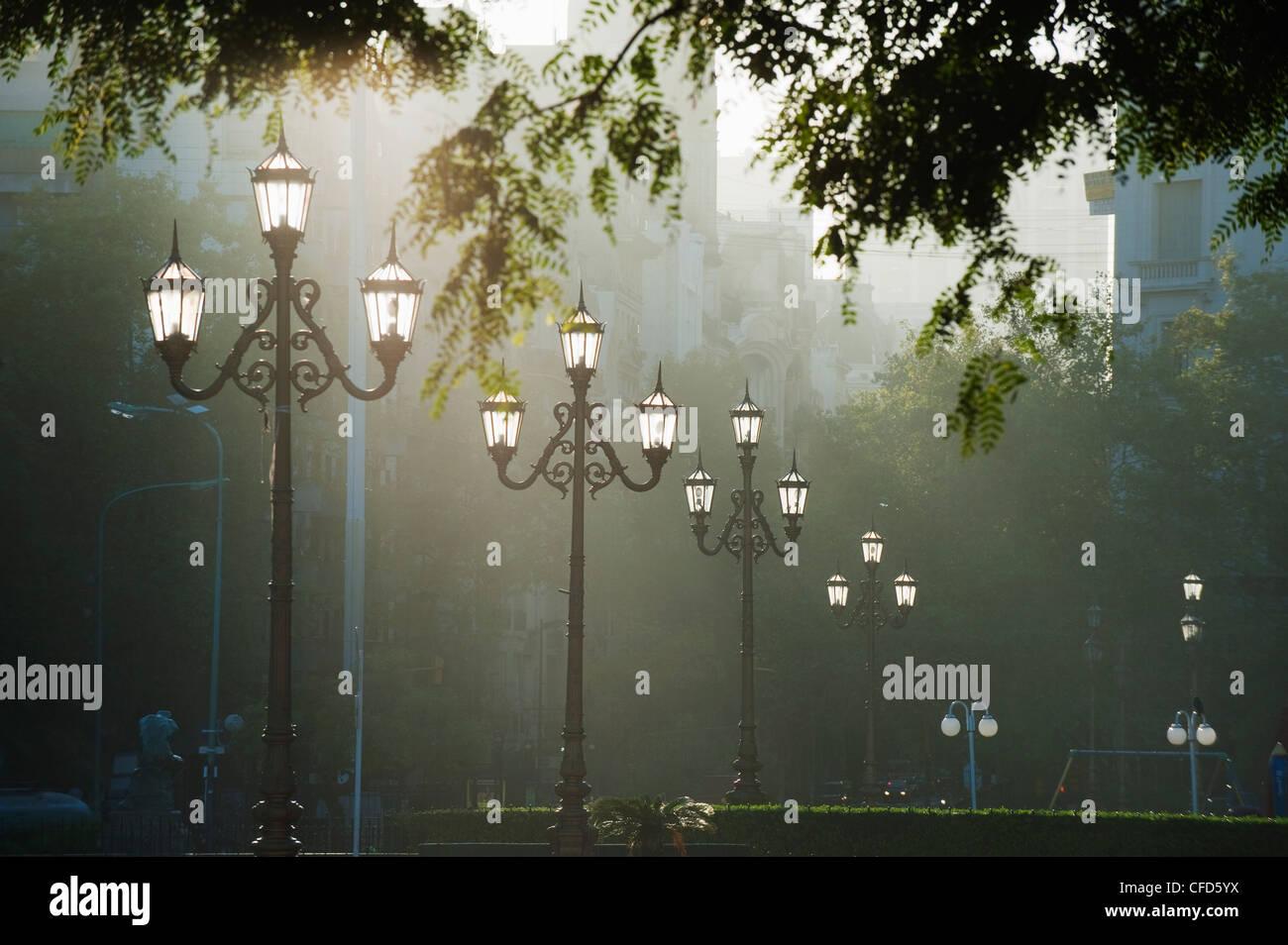 Lampes de rue, Buenos Aires, Argentine, Amérique du Sud Photo Stock
