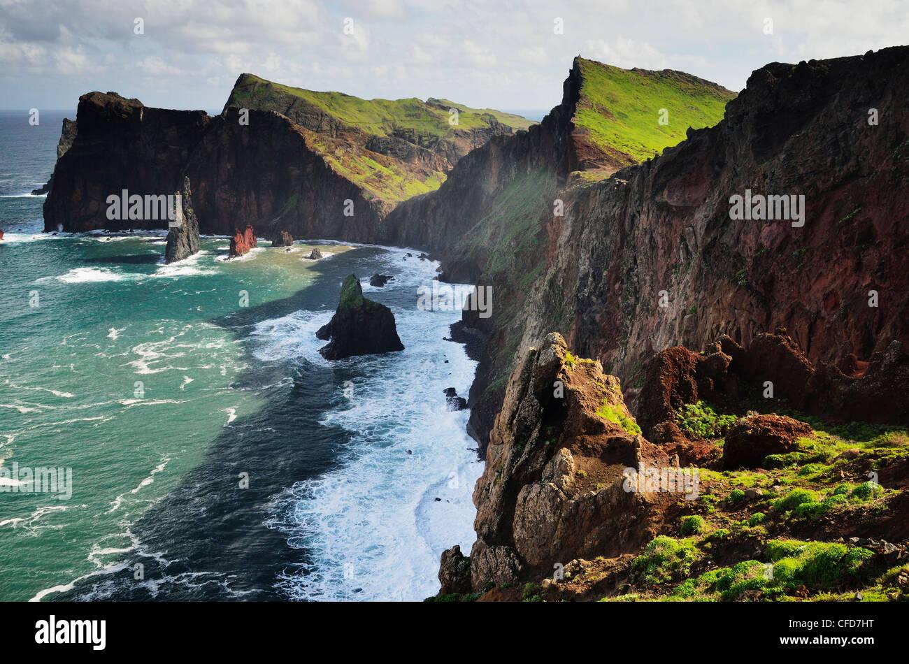 Ponta do Castelo, Madeira, Portugal, Océan Atlantique, Europe Banque D'Images