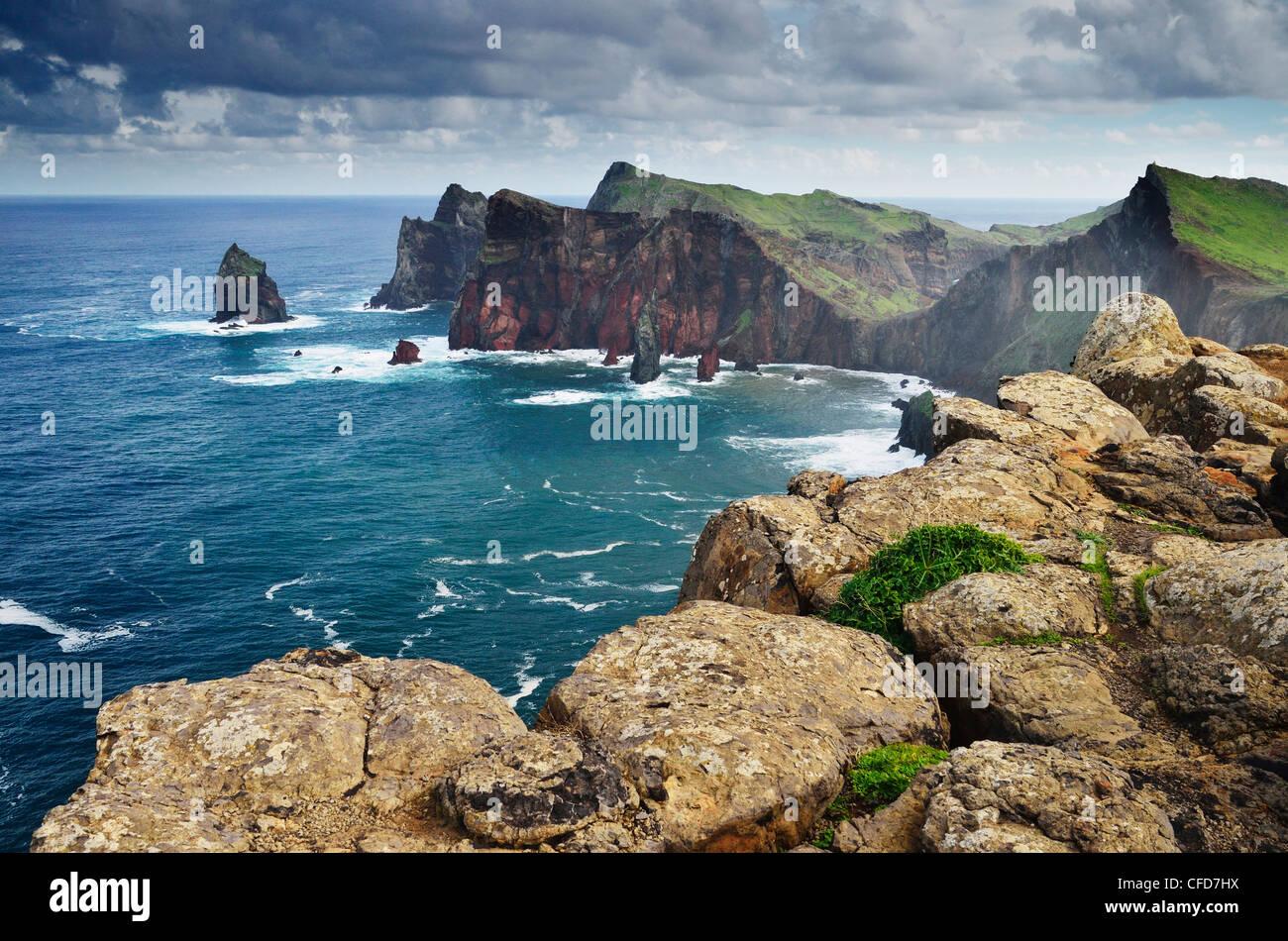 Ponta do Castelo, Madeira, Portugal, Océan Atlantique, Europe Photo Stock