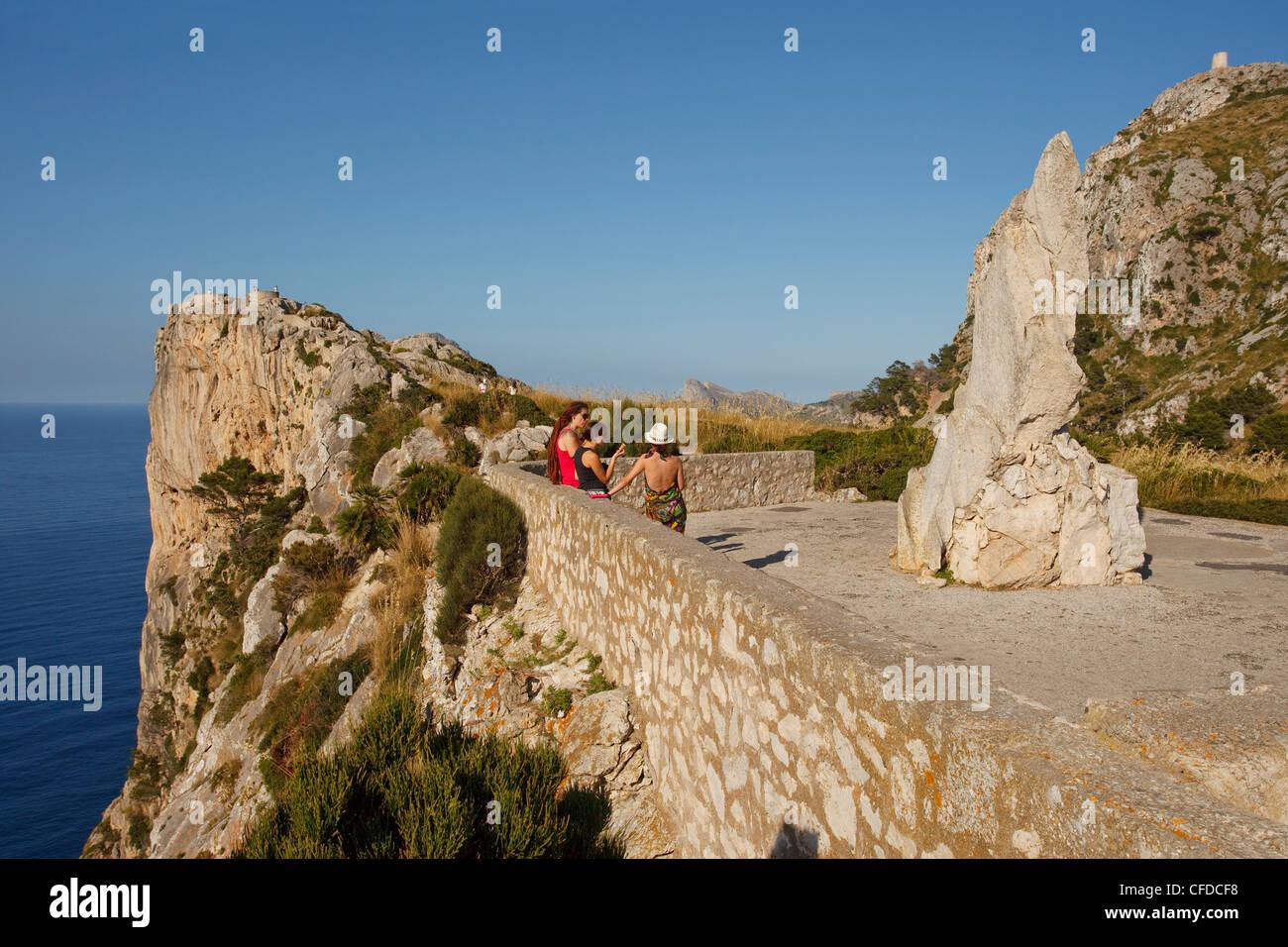Point de vue, Mirador d'es Colomer, Mirador de Mal Pas, Cap de Formentor, le cap Formentor, Majorque, Iles Baléares, Photo Stock