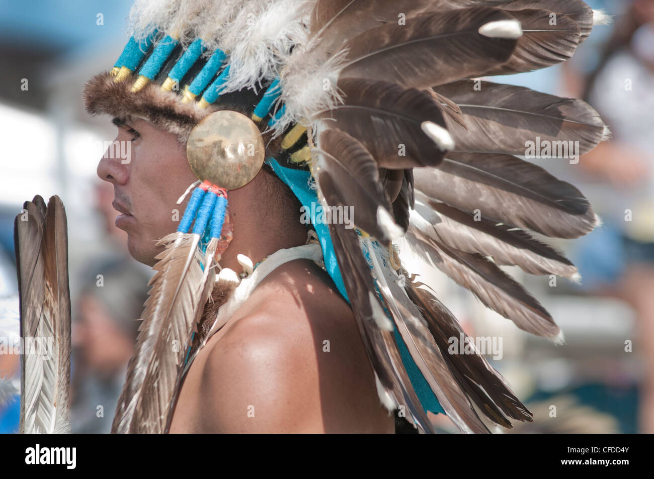 Un Native American man de Pendelton Yakama Nation Photo Stock