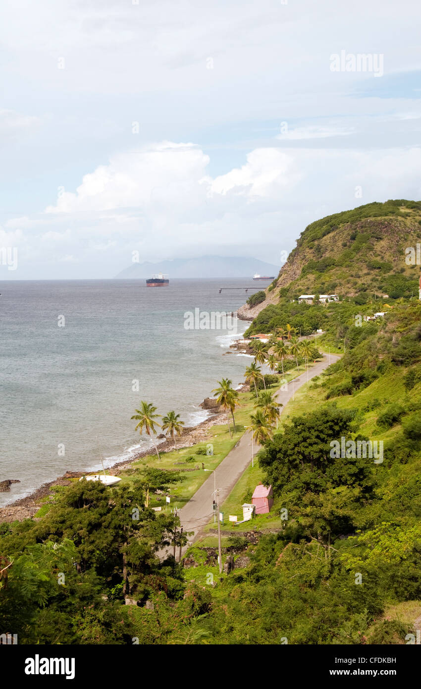 Oranje Bay Oranjestad plage mer des Caraïbes Sint Saint-eustache Dutch Antilles Néerlandaises island Banque D'Images