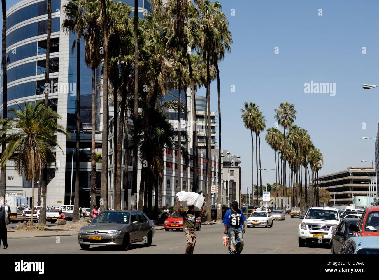 Centre Ville, à Harare, Zimbabwe, Afrique du Sud Photo Stock