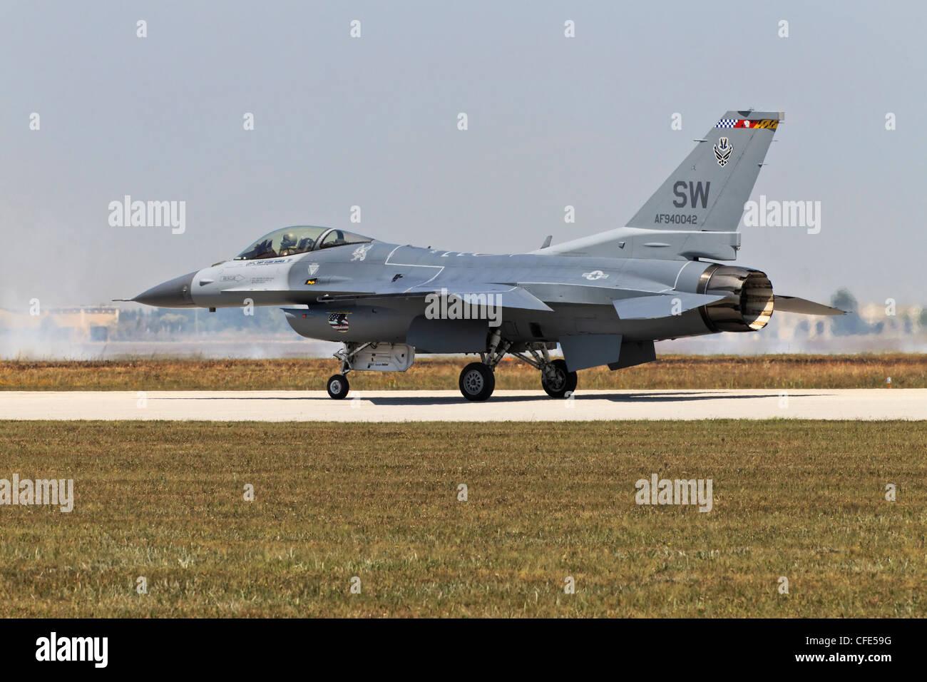 General Dynamics F-16 Fighting Falcon de l'USAF Banque D'Images