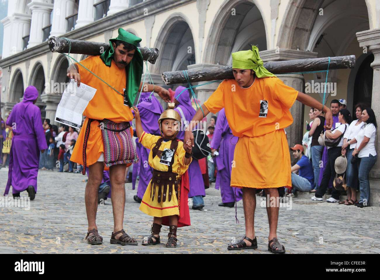 Traditions au Guatemala pour Pâques 'Carnaval' Photo Stock