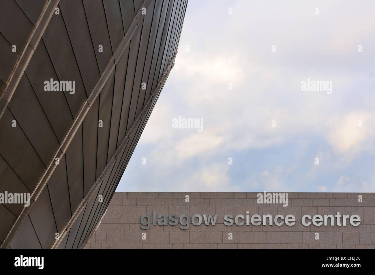 La construction de la métal futuriste Centre des sciences de Glasgow en Ecosse. Banque D'Images
