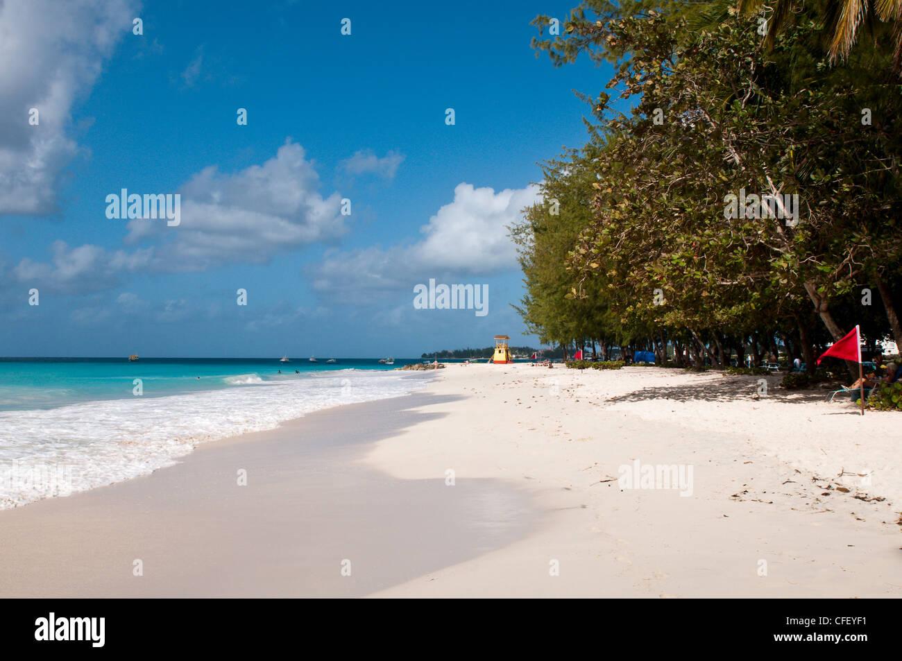 Miami Beach, la Barbade, îles du Vent, Antilles, Caraïbes, Amérique Centrale Photo Stock