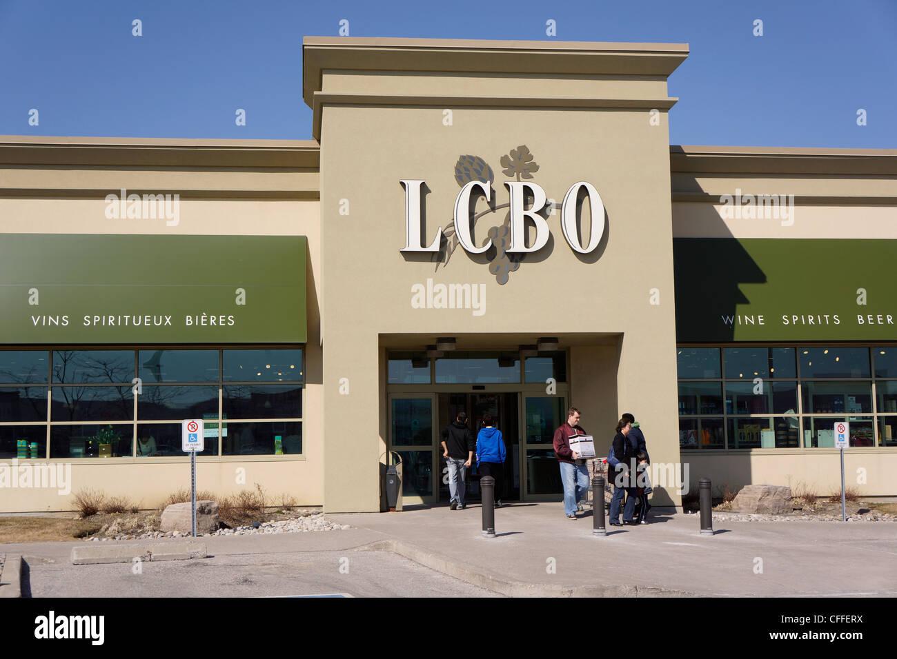 LCBO, Régie des alcools de l'Ontario Photo Stock
