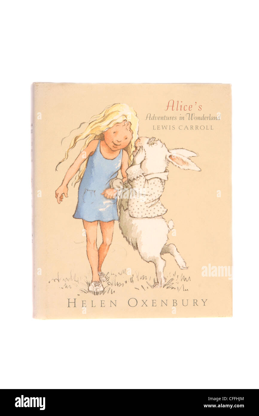 "Un roman classique de Lewis Carroll ""Alice's Adventures in Wonderland"". Photo Stock"