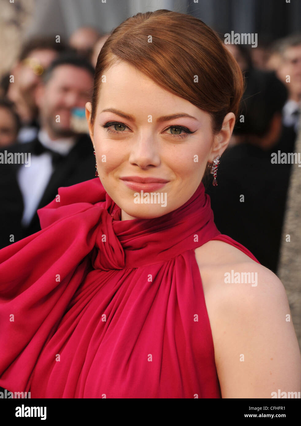 EMMA STONE actrice US en février 2012. Photo Jeffrey Mayer Photo Stock