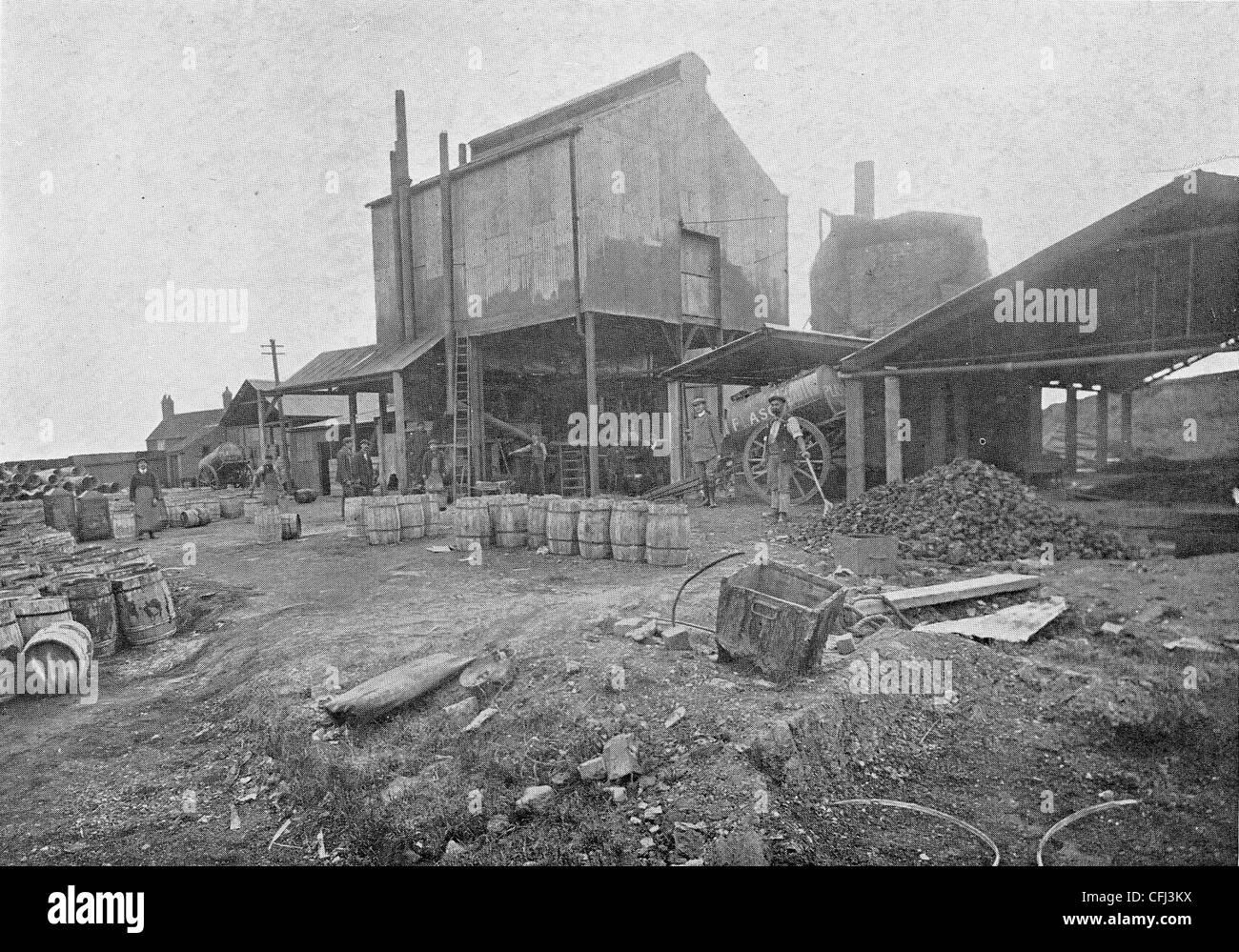 Rue Fawdry cite parmi fonctionne, Plascom (1909) Ltd., Wolverhampton, c 1911. Photo Stock
