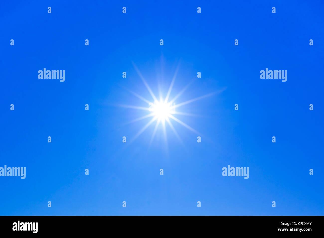 Sun star burst avec ray rayons x Photo Stock