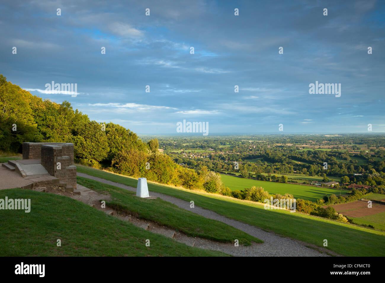 Point de vue sur Fort Hill, Surrey, Angleterre, Royaume-Uni, Europe Banque D'Images