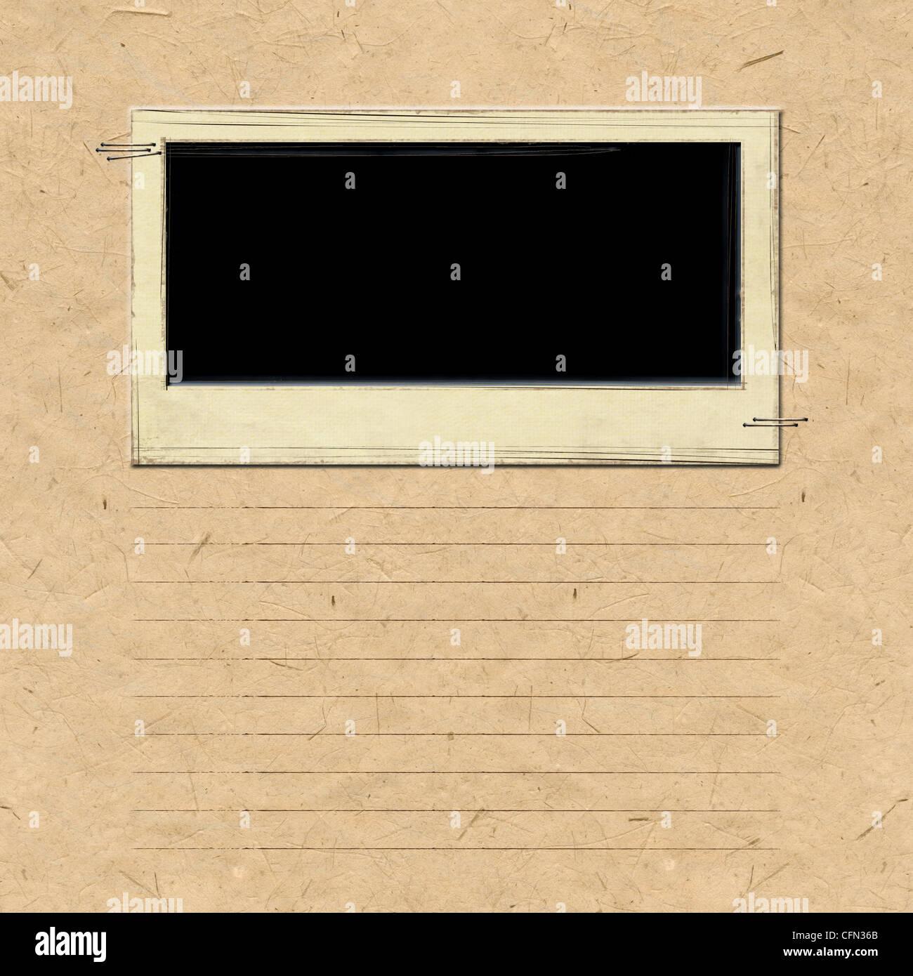Cadre Album nostalgie Photo Stock