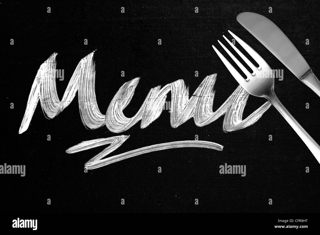 Menu Photo Stock