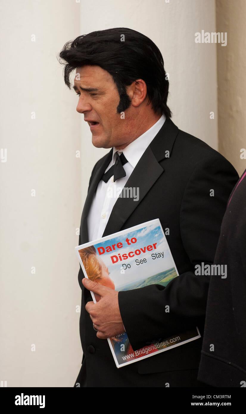 28 septembre 2012. Porthcawl, UK. Darren Jones 40 Graceland (L) de Liverpool, le Pays de Galles - cette années Photo Stock