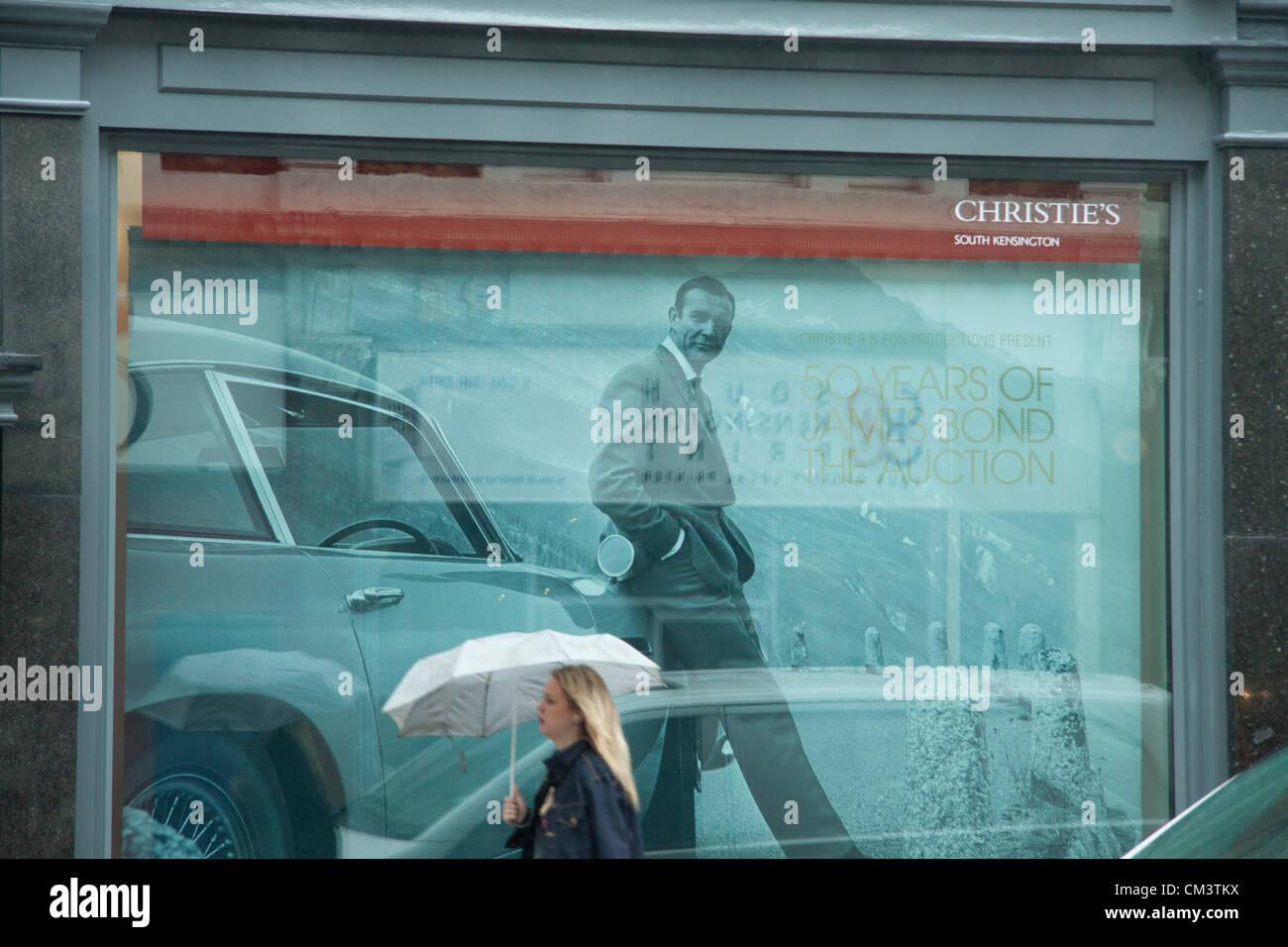 28 septembre 2012. London UK. Christie's organisent une vente aux enchères de James Bond souvenirs pour Photo Stock