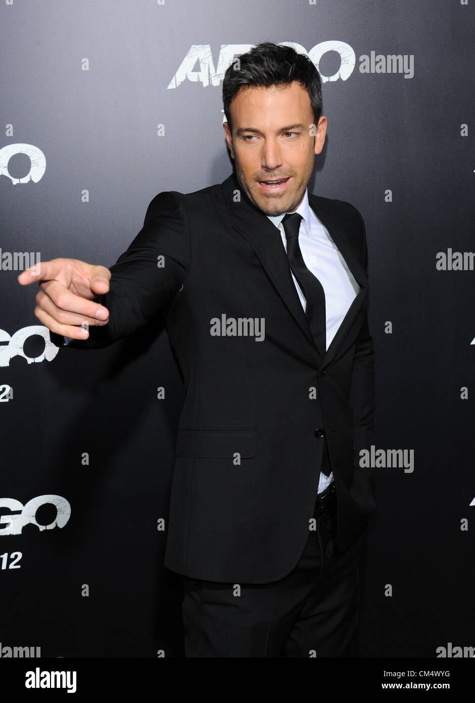 """Ben Affleck a la premiere du film pour """"Argo"""" à Los Angeles, CA 4 Oct 2012. USA. Photo Stock"""