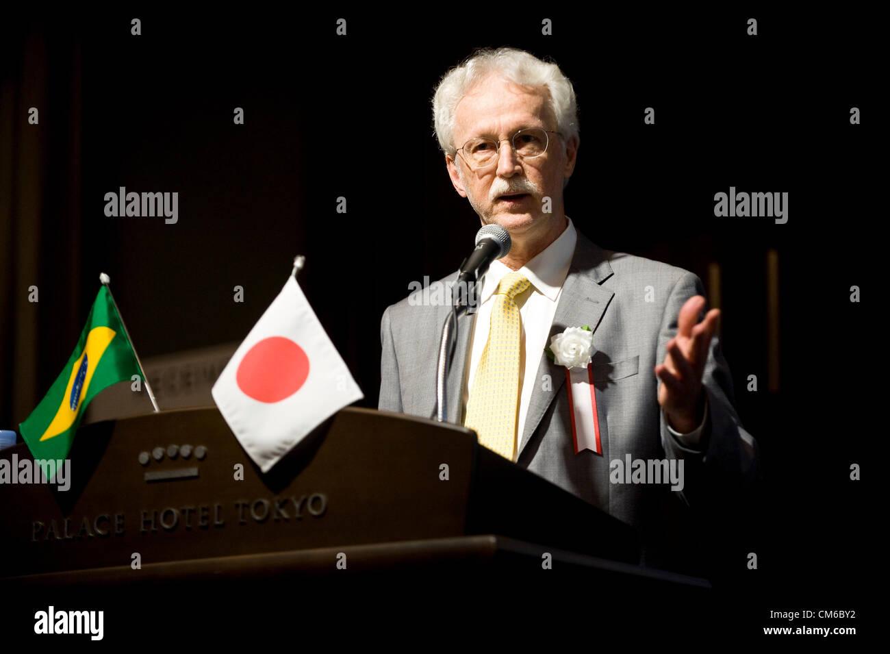 Almir Barbassa, directeur financier de Petrobras, parle pendant la Conférence économique du Brésil Photo Stock