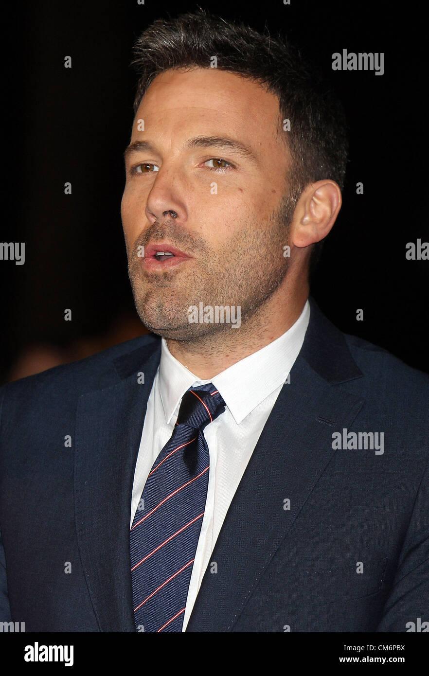 Ben Affleck au BFI London Film Festival Gala Accenture 'Les Sessions' à l'Odéon, Leicester Photo Stock